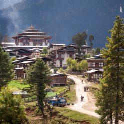 Le village de Gangtey et son monastère